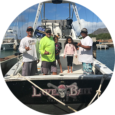 Learn more about the boat used by Live Bait Charters in Hawaii